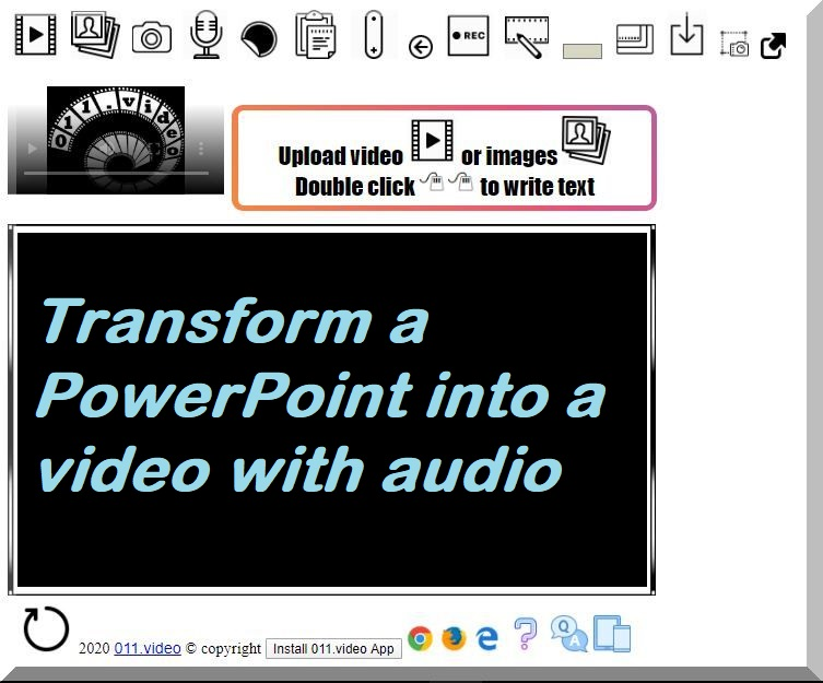 Transform a PowerPoint into video with audio