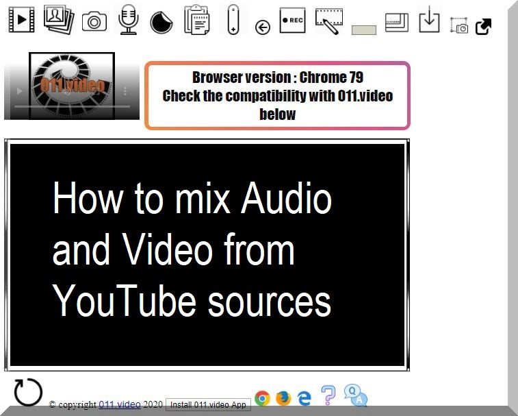 How to mix Audio and Video from YouTube sources