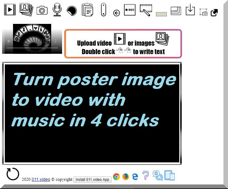 Turn poster image to video with music in 4 clicks