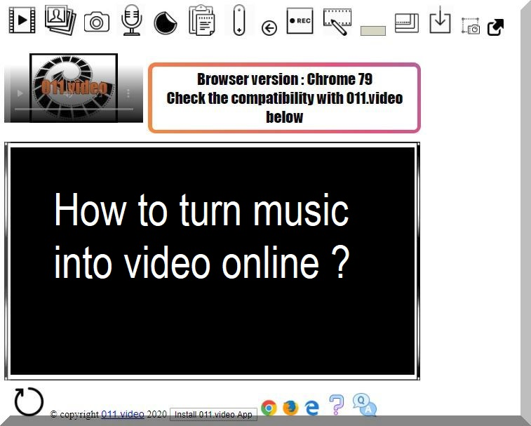 How to turn music into video online