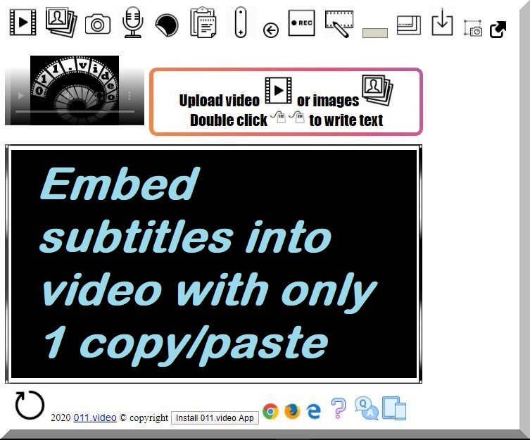 Embed subtitles into video with only 1 copy/paste