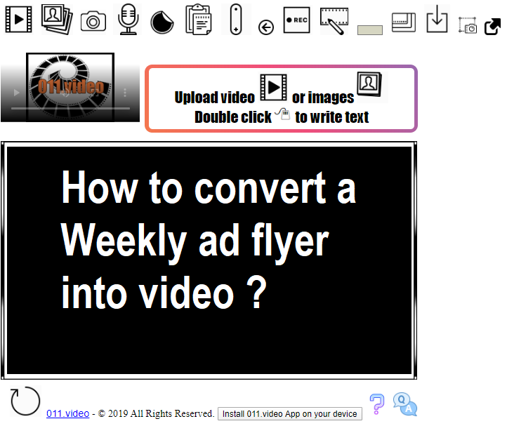 How to convert a Weekly ad flyer into video