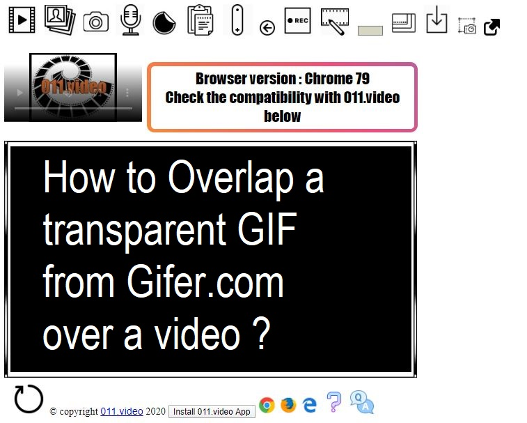 How to Overlap a transparent GIF from Gifer.com over a video ?