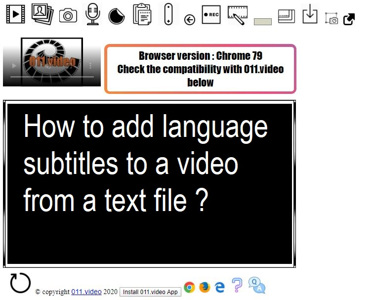 How to add language subtitles to a video from a text file ?