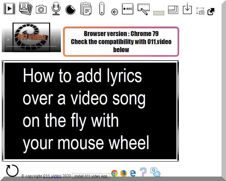 How to add lyrics over a video song on the fly with your mouse wheel