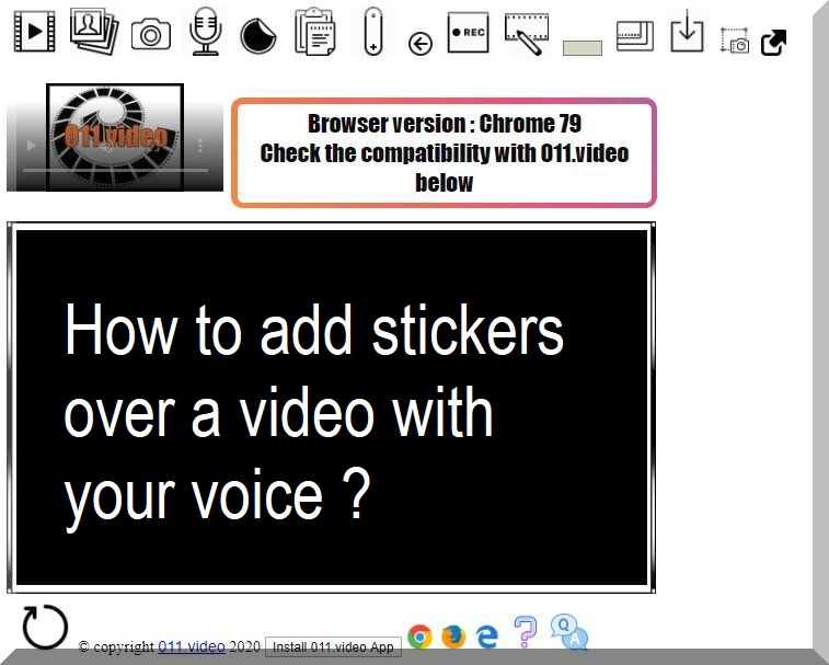 How to add stickers over a video with your voice ?