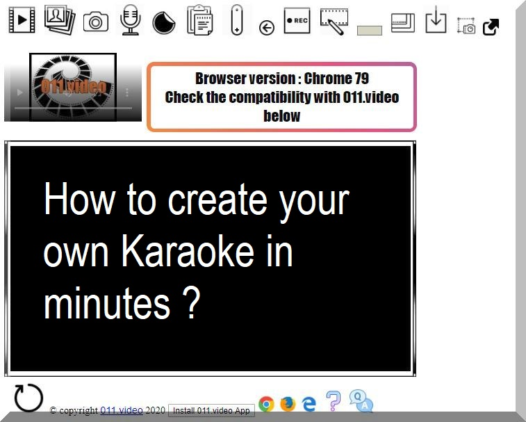 How to create your own Karaoke in minutes