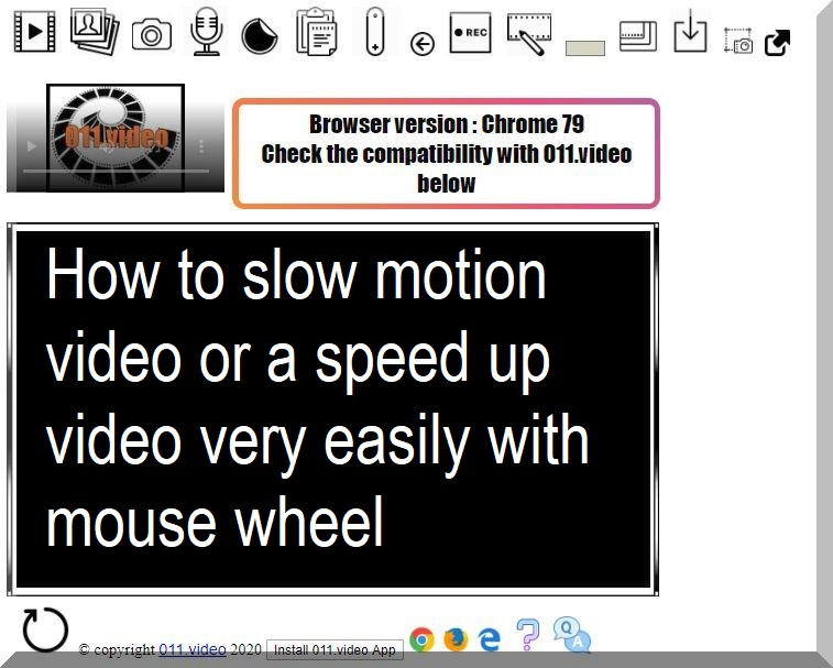 How to slow motion video or a speed up video very easily with mouse wheel