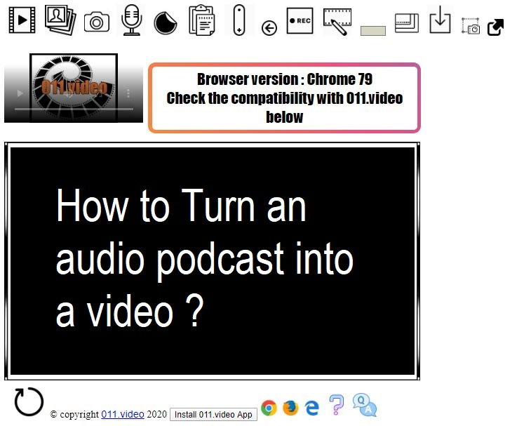 How to Turn an audio podcast into a video ?