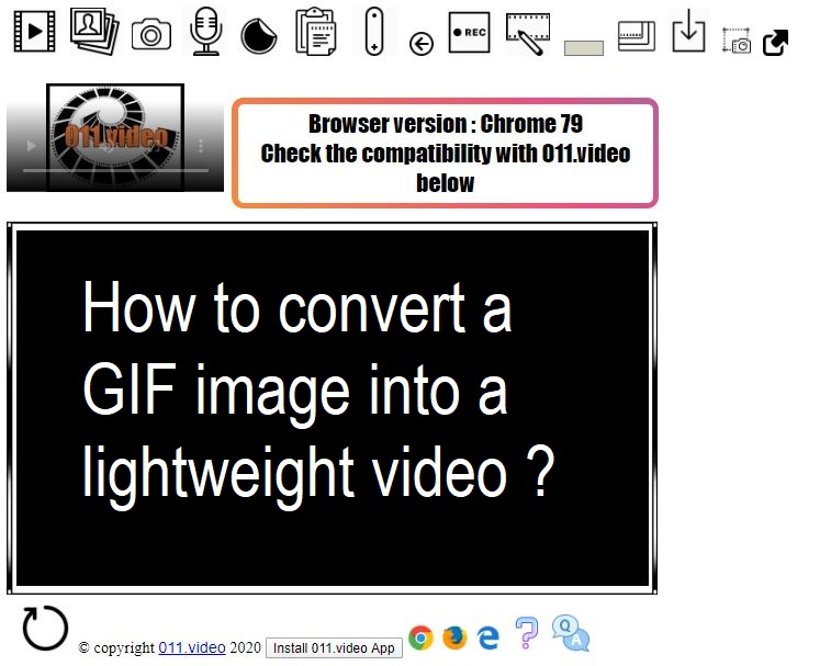 How to convert a GIF image into a lightweight video ?