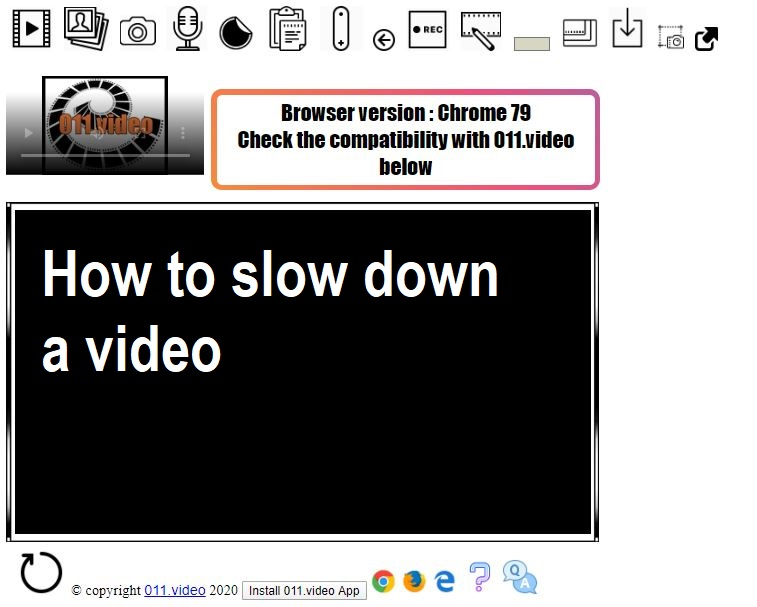 How to slow down a video