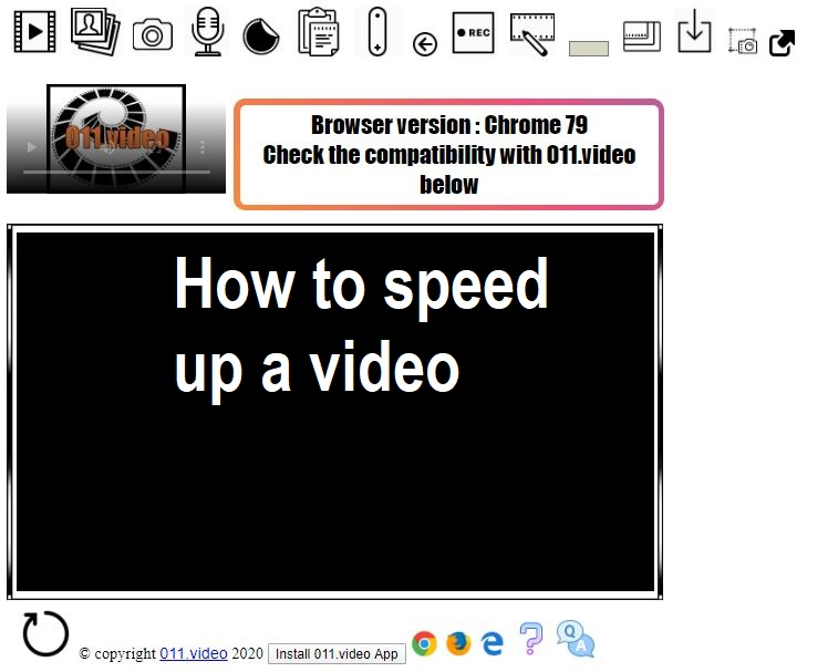 How to speed up a video