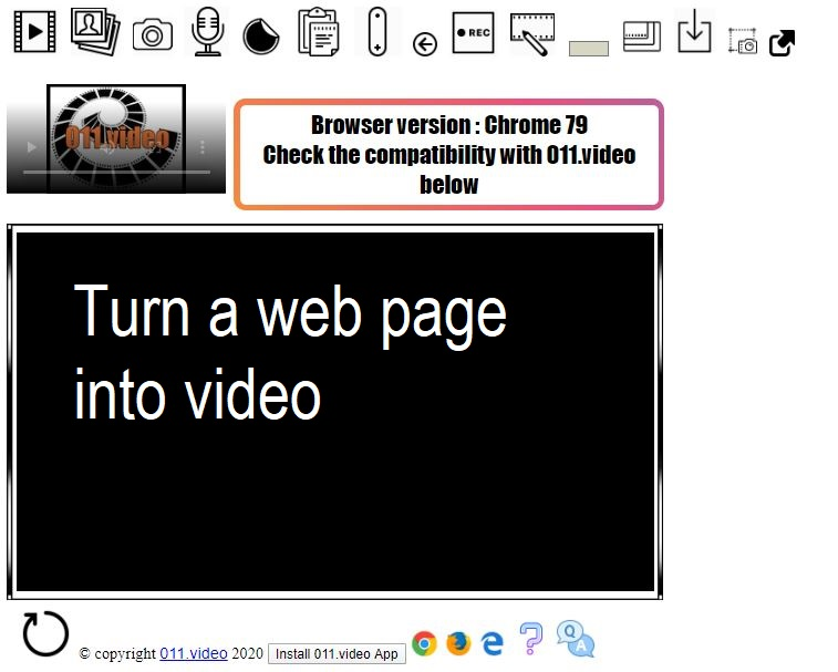 Turn a web page into video