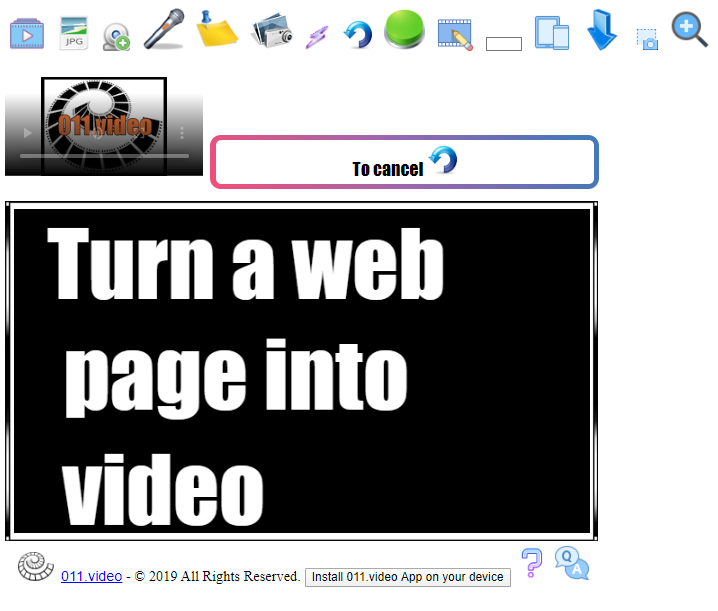 Turn html page into a video