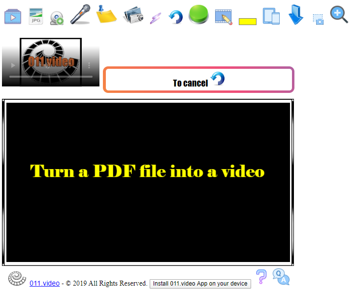 Turn a PDF into video