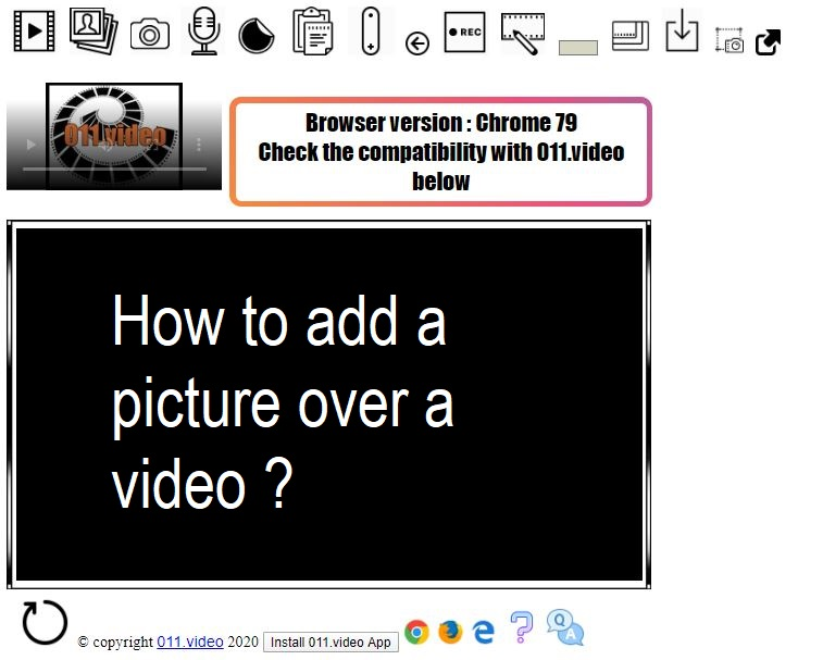 How to add a picture over a video ?