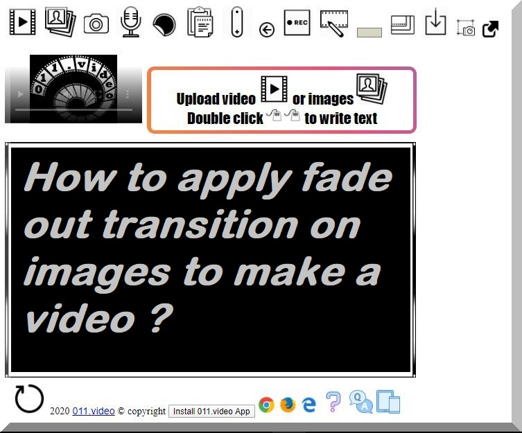 How to apply fade out transition on images to make a video ?