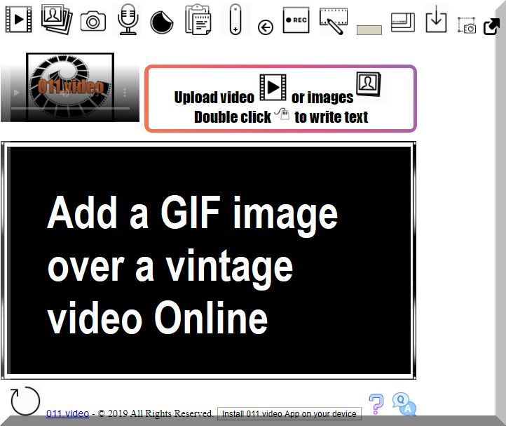 Add a GIF image over a vintage video Online