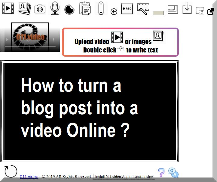 How to turn a blog post into a video Online