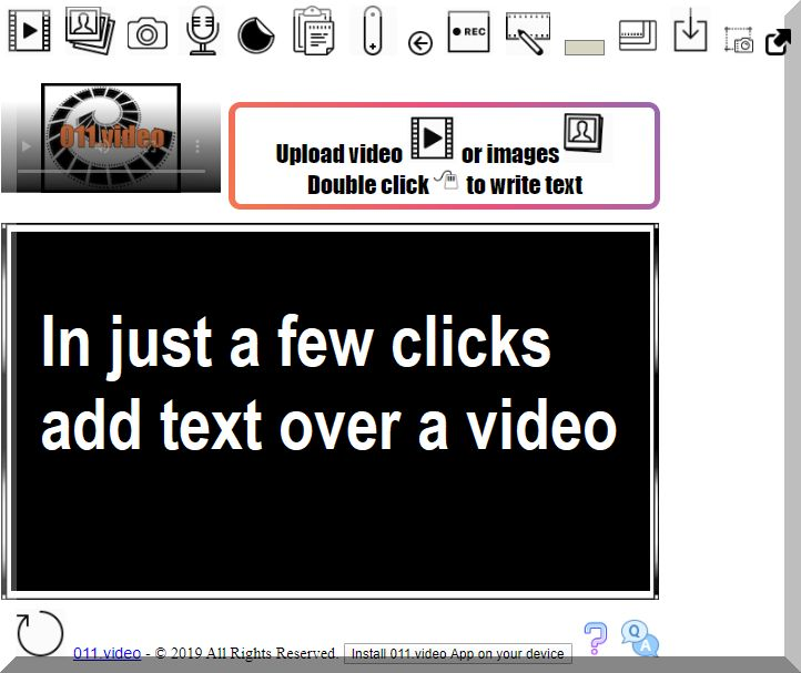 In just a few clicks add text over a video