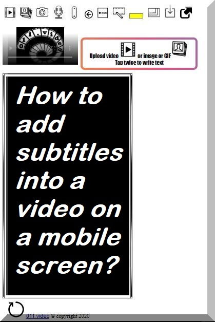 How to add subtitles into a video on a mobile screen