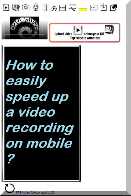 How to easily speed up a video on mobile ?
