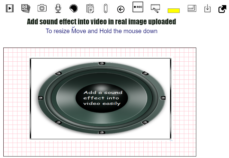 Add sound effect into video in real time online