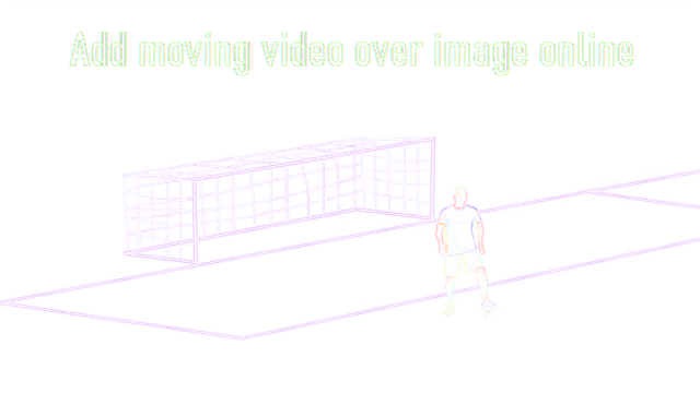Add moving video over image online